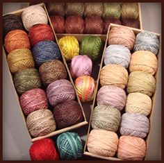 Valdani hand dyed threads--Once you start with these GORGEOUS threads you'll never want to stitch with anything else