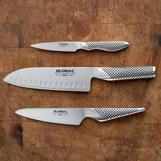 """Global Knives - a favorite among chefs around the world. Truly """"global"""" one might say. http://www.thesampleroom.com.au/global.html"""