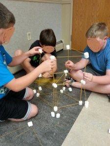 Tower Building with the School Age – Thrive After Three After School Club Activities, School Age Games, Daycare Games, School Age Crafts, Daycare School, After School Care, Summer Camp Activities, School Clubs, Daycare Crafts