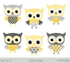 Grey and yellow baby shower owl clipart, Baby boy owl clip art, Boy nursery clipart, Digital downloa Owl Clip Art, Baby Clip Art, Yellow Nursery, Owl Nursery, Gray Owl, Pink Owl, Baby Shower Yellow, Baby Boy Shower, Animal Cupcakes