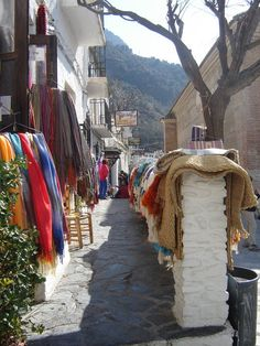 Pampaneira, Alpujarras. I bought a rug at thus shop.  Lovely lady gave me some local sweets.