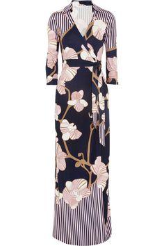 Diane von Furstenberg -- floor length DVF wrap dress?!