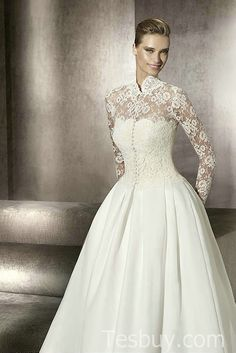modest plus size wedding dresses with sleeves | ... Dresses 2012_Plus Size Prom Dress_Plus Size Wedding Dress-TesBuy.com