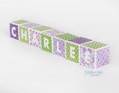Custom Baby Name Blocks 2 Inch Wood Blocks by MillerKyleStudios