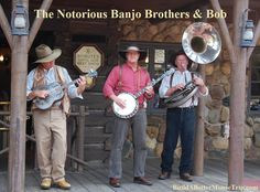 Disney World is more than just rides and attractions - they have some really great musicians that enhance the theme park experience.  The Notorious Banjo Brothers & Bob debuted in the Magic Kingdom on August 8, 2000 and can be found in Frontierland.