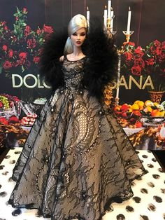 Gown-Outfit-Dress-Fashion-Royalty-Silkstone-Barbie-Model-Doll-FR  BY T.D.12/5/1 #FashionRoyalty #ClothingAccessories