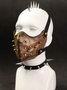 Nouveau produit : Brown faux leather mask with picks steampunk post apocalypse Vous aimez ? / New product do you like ? Prix: 19.90 #new #nouveau #japanattitude #masques #punk #steampunk #mask #accessory #face #brown #leather #cyber #goth #rock #horeur #post #apocalypse #mad #max #postapocalypse