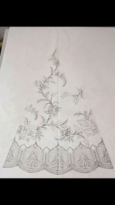 Discover thousands of images about Lehnga Zardozi Embroidery, Kurti Embroidery Design, Couture Embroidery, Embroidery Fashion, Border Embroidery Designs, Hand Work Embroidery, Machine Embroidery Patterns, Beaded Embroidery, Geometric Stencil