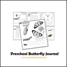 Preschool Butterfly Unit, printable journal pages.