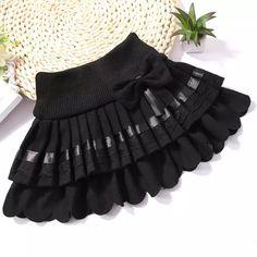 Online Shop 2015 new fashion 2 Color bow school girl& l . Little Girl Skirts, Baby Girl Skirts, Skirts For Kids, Dresses Kids Girl, Baby Girl Dress Patterns, Baby Dress, Kids Tutu, Toddler Skirt, Baby Frocks Designs
