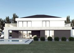 Projekt domu FX-31 257,31 m² - koszt budowy - EXTRADOM Modern Family House, Architect House, Home Fashion, House Plans, 257, Mansions, Studio, Architecture, House Styles