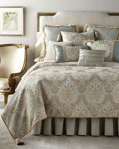 Shop Lucille Bedding from Dian Austin Couture Home at Horchow, where you'll find new lower shipping on hundreds of home furnishings and gifts. Luxury Bedspreads, Luxury Bedding, Modern Bedding, Moda Emo, Cozy Bed, Luxurious Bedrooms, Luxury Bedrooms, Home Decor Bedroom, Bedroom Ideas