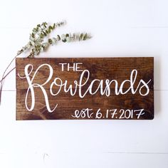 A personal favorite from my Etsy shop https://www.etsy.com/listing/510892603/family-name-sign-wood-last-name-sign