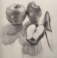 Daily sketch. Graphite in Moleskine Cahiers sketchbook. By Sarah Sedwick. 10.22.16