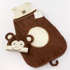 "Baby Aspen ""My Little Monkey"" Snuggle Sack and Cap"