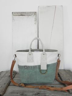 Tote bag made from a vintage feed sack a 60-year-old reclaimed · Canvas TentCanvas ... & Custom tote bag made from a reclaimed 60-year-old canvas tent ...