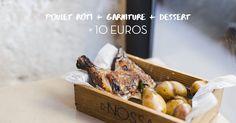 """la formule """"poulet + garniture + dessert à 10 euros m'sieur !"""" Nossa, 1 rue de l'École Polytechnique, 75005 Paris, Tel : 09 53 67 93 86 ouvert du mardi au samedi de 12h à 15h et de 19h à 22h30, et le Dimanche, de 12h à 15h et 19h à 21h30."""