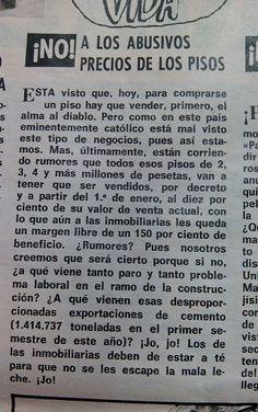 #PreciosAbusivosPisos En: #LaCodorniz, #1975