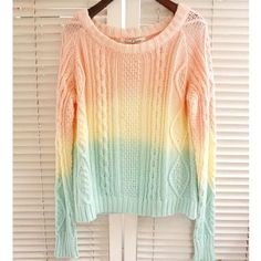 Sweet Gradient Color Knit Sweaters for only $29.90 ,cheap Sweaters & Cardigans - Clothing & Apparel online shopping,Sweet Gradient Color Knit Sweaters is very sweet and elegant , It is a perfect gift for her.