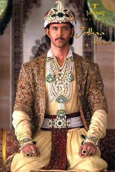 Hrithik Roshan - in jodha akbar film--Hrithik plays Akbar the Great. A Muslim Mogul Emporer who marries a Hindi princess Jodha. Theirs is a fantastic love story and Hrithik makes a woman's heart skip a beat...literally.