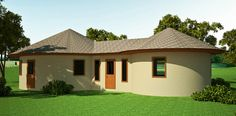 metal roof house plans - Google Search Round House Plans, Best House Plans, House Floor Plans, Metal Roof Houses, House Roof, Octagon House, African House, Three Bedroom House Plan, Thatched House