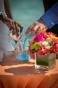 Parfait Weddings & Events Cayman Islands  -Sand ceremony -