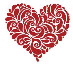 Ornate Paisley Heart Wall Decal, Valentine, love, home decor, Interior Design, Bedroom Girls, Wife, Wall Decal, Salon, Wall Art  (# HOPH1)