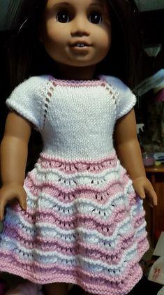 Ravelry: mamawump's Pink Waves Dress