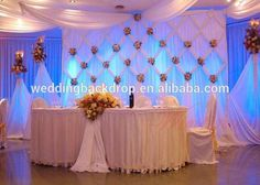 Event wedding aluminum backdrop stand pipe drape or trade show pipe and drape Wedding Stage, Wedding Events, Dream Wedding, Wedding Day, Weddings, Stage Decorations, Wedding Decorations, Party Kulissen, Pipe And Drape