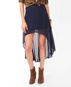 High-Low Chiffon Skirt | FOREVER21 - 2030187783  cute