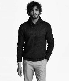 OWN: H&M Shawl Collar Pullover in Black