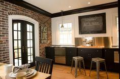 Кухня в стиле лофт, интерьер