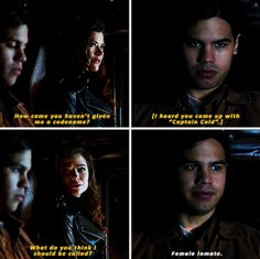 "#TheFlash 1x22 ""Rogue Air"" - Cisco and Lisa Snart/Golden Glider"