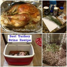 Best Turkey Brine Recipe If you are looking for a way to give your turkey the best flavor with a tender and juicy outcome, Thanksgiving Turkey, Thanksgiving Recipes, Fall Recipes, Holiday Recipes, Christmas Turkey, Holiday Foods, Christmas Eve, Best Turkey Brine, Brining Turkey Recipe