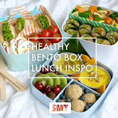 Healthy Bento Box Lunch Inspo! // www.skinnymetea.com.au