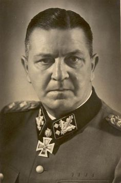 Theodor Eicke, a SS-Obergruppenführer, commander of the SS-Division Totenkopf of the Waffen-SS and one of the key figures in the establishment of concentration camps in Nazi Germany.