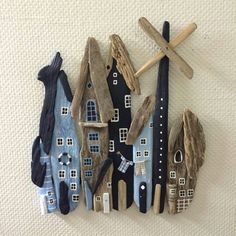 Twig Crafts, Beach Crafts, Wooden Crafts, Fun Crafts, Driftwood Projects, Driftwood Art, Sea Art, Sea Glass Art, Twine Flowers