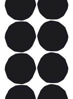 Isot Kivet -kangas (valkoinen,musta)   Kankaat, Puuvillakankaat   Marimekko