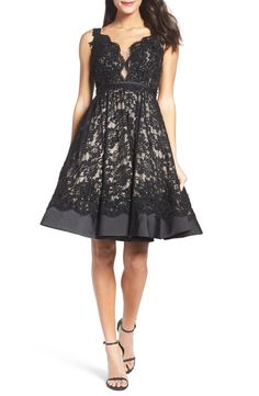 New MAC DUGGAL Lace Fit Flare Dress fashion online. [$578]?@shop hoodress<<