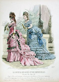 Fashion Prints from Journal Des Dames et Des Demoiselles, 1869-1874
