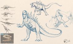 Dinosaurian Godzilla by FredtheDinosaurman.deviantart.com on @DeviantArt