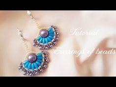 (76) #МК - Серьги с применением бусин риса   #Tutorial - Earrings use beads rice - YouTube
