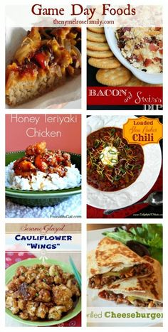 Game Day Foods www.thenymelrosefamily.com #gameday #recipes