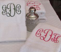 Heirloom Monogrammed Bath Towel Sets at an affordable price. http://bellalino.com/monogram-bath-towels/Signature%20Monogrammed%20Bath%20Towels.htm