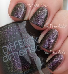 Black Hole is a multi chrome shimmer, flashing purple and gold and varying hues between. Opaque in 2 to 3 coats.Swatches courtesy of  thepolishaholic.com, www.ermahgerdperlish.com, mrslochness (ig), and www.cosmeticsanctuary.com.ALL polishes contain a 3-FREE (Dibutyl Phthalate (DBP), Formaldehyde and Toluene) cruelty free uncut nail polish suspension base and stainless steel mixing balls. Some may contain glitter and other pigments. Some pigments may settle over time, it's b...