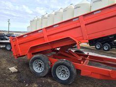 Dumpbox 35835 x 83 Bumperpull Kubota orange Trailer Sales, Trailers For Sale, Enclosed Cargo Trailers, Equipment Trailers, Dump Trailers, Kubota, Trucks, Orange, Box
