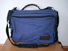Vintage Eddie Bauer Nylon Shoulder Bag Backpack Carry On Laptop Briefcase Bag #EddieBauer #BriefcaseAttache