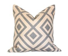 Pillows - La Fiorentina Grey & Beige Pillow I Ariannabelle.com - gray and beige geometric pillow, gray and beige modern pillow, gray and bei...