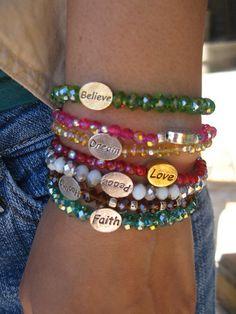 Positivity Bracelet by GloriousCraft on Etsy