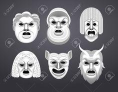 greek theatre masks images - Google Search